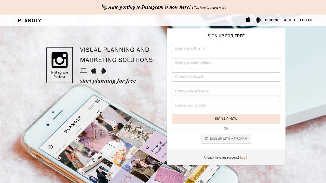 A Visual Planner Scheduler for Instagram