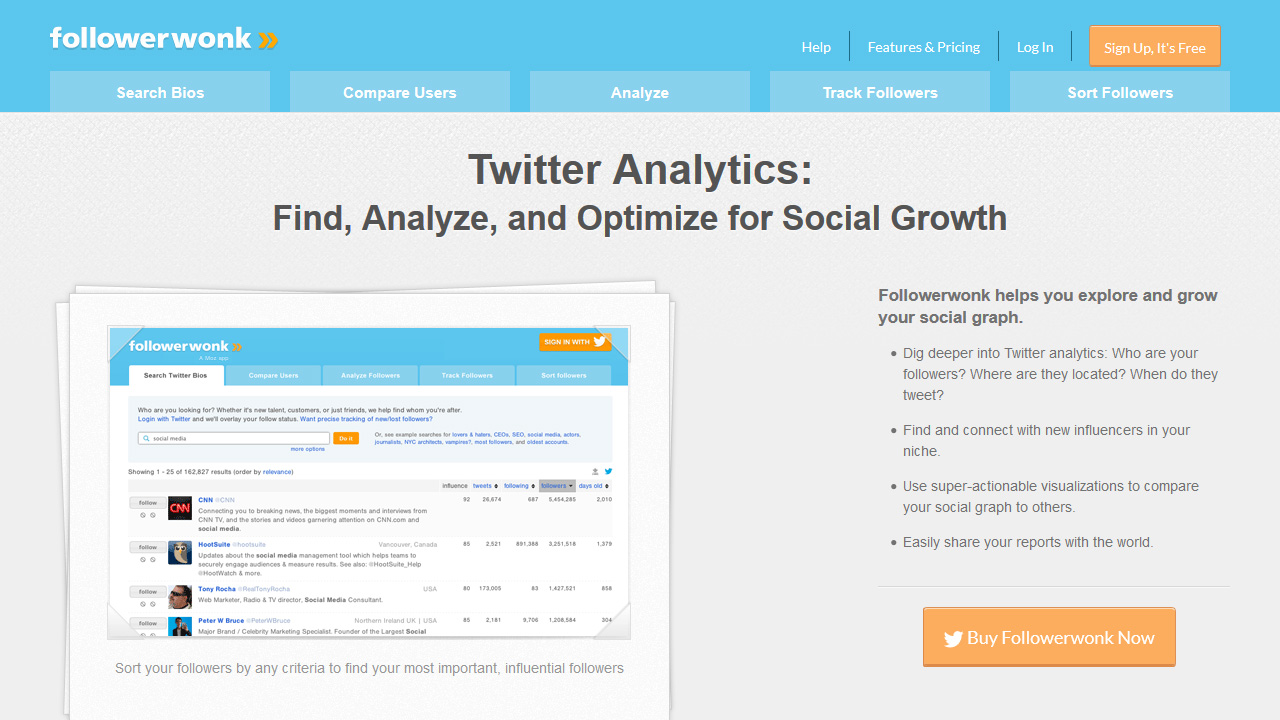 Followerwonk Tools for Twitter Analytics Bio Search and More