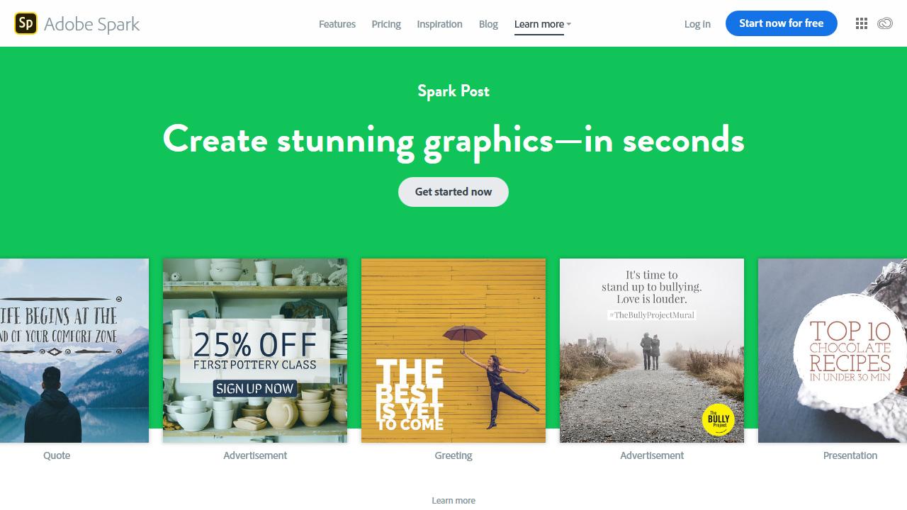 Free Online Social Media Graphic Design Software Adobe Spark Post