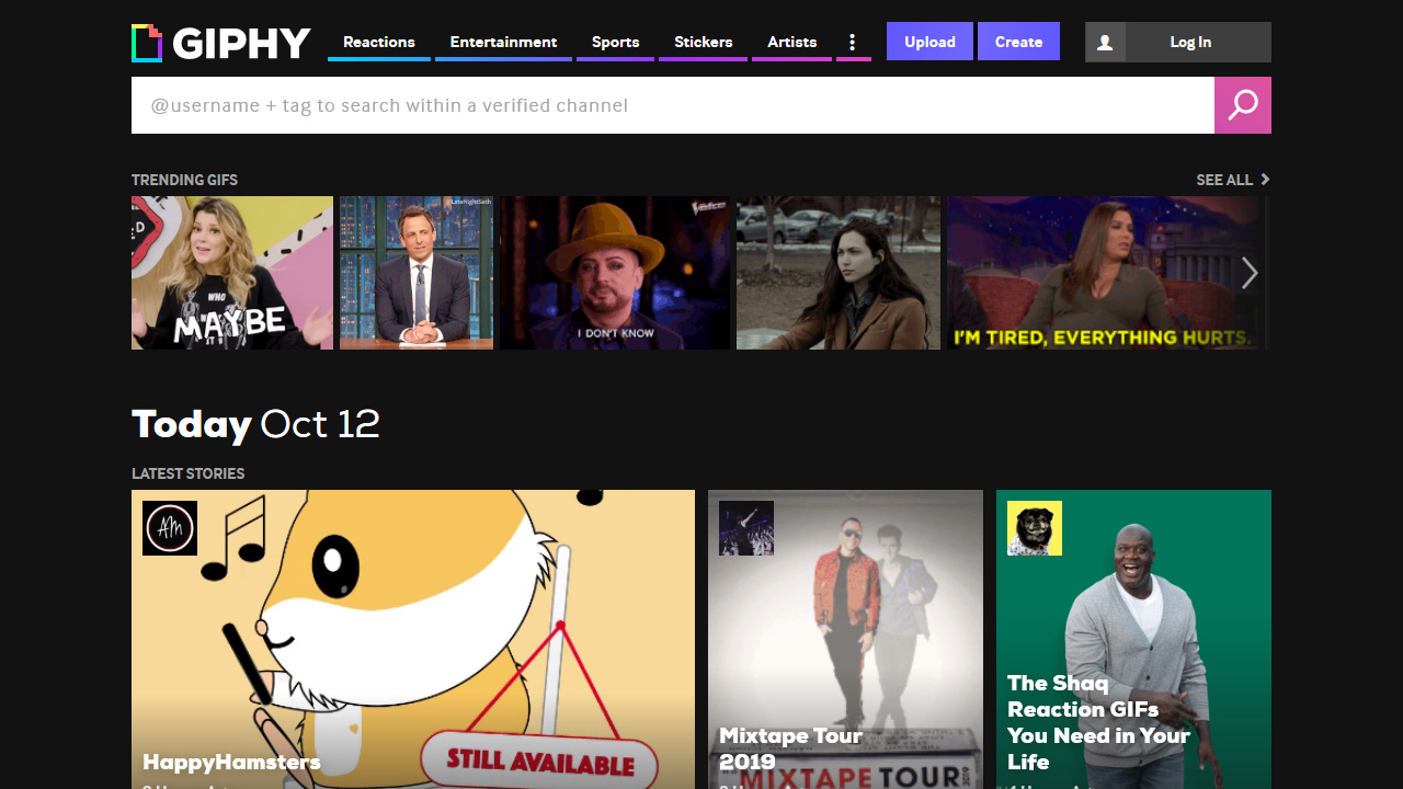 GIPHY Search All the GIFs Make Your Own Animated GIF