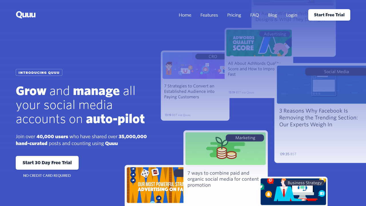 Grow and manage all your social media accounts on auto pilot