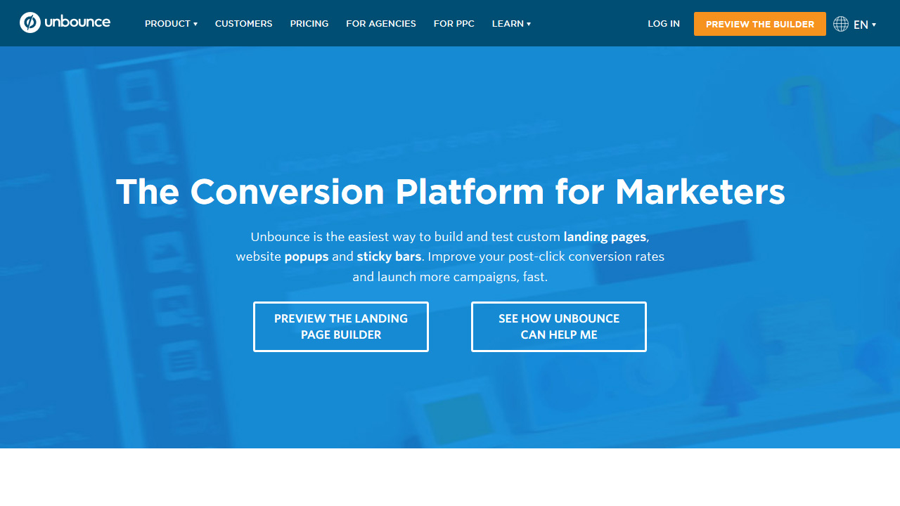 Landing Page Builder Conversion Platform for Marketers Landing Page Software