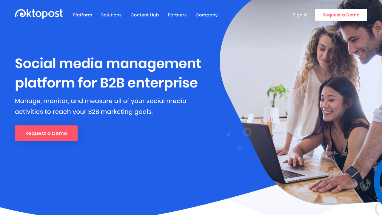 Oktopost The Social Media Management Platform for B2B Enterprises