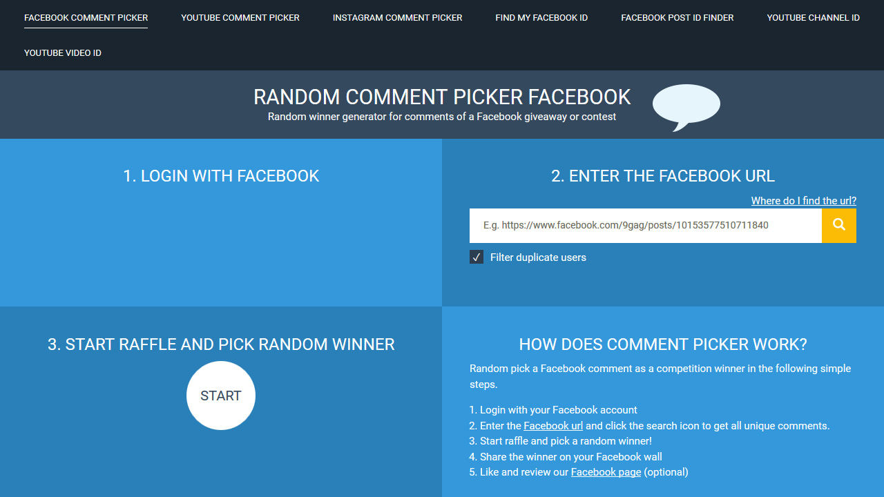 Random Comment Picker