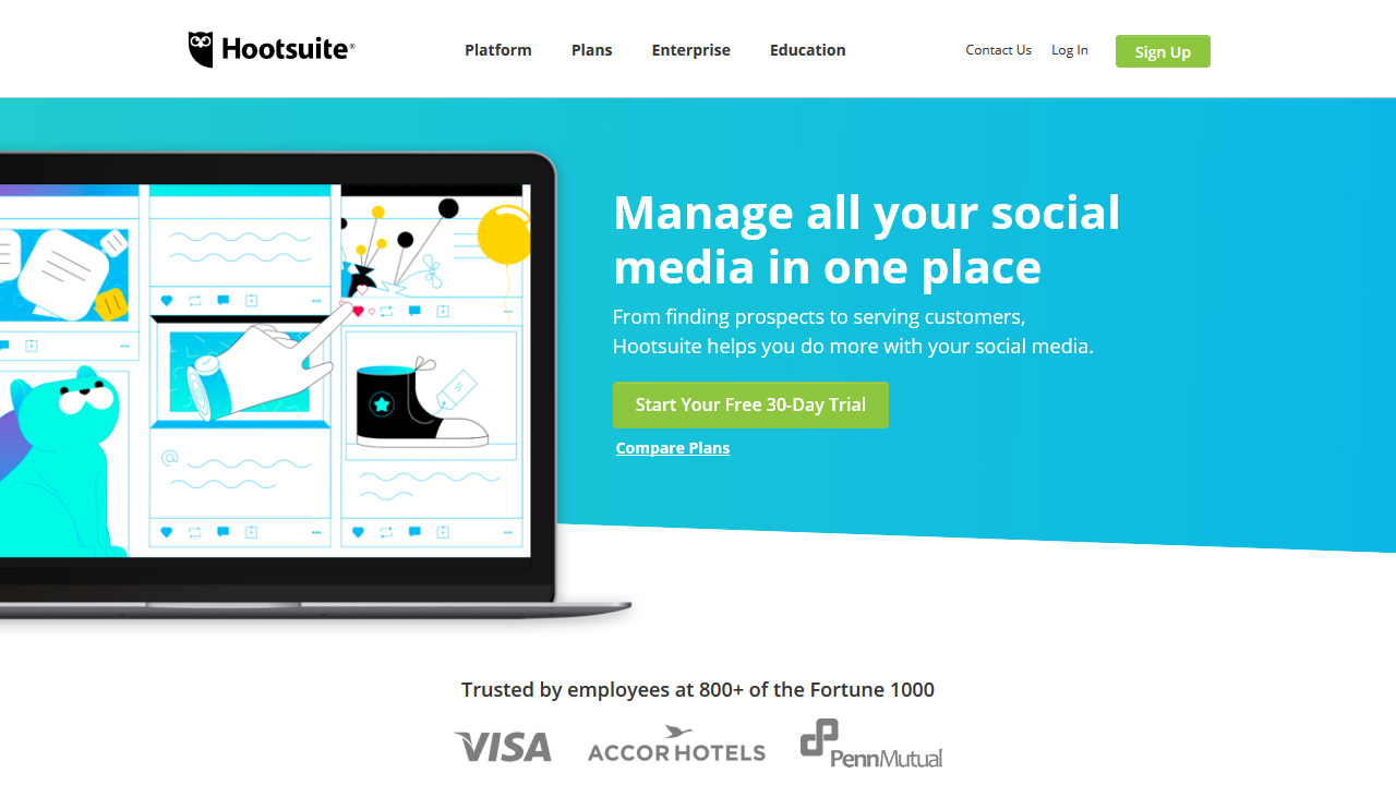 Social Media Marketing Management Dashboard Hootsuite