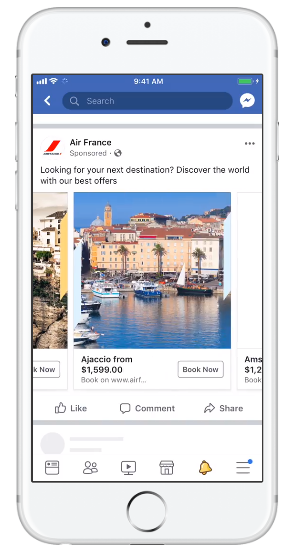 facebook carousel mobile example
