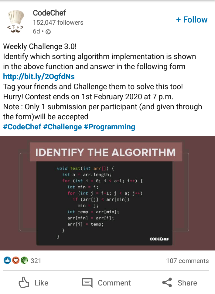 codechef linkedin contest example