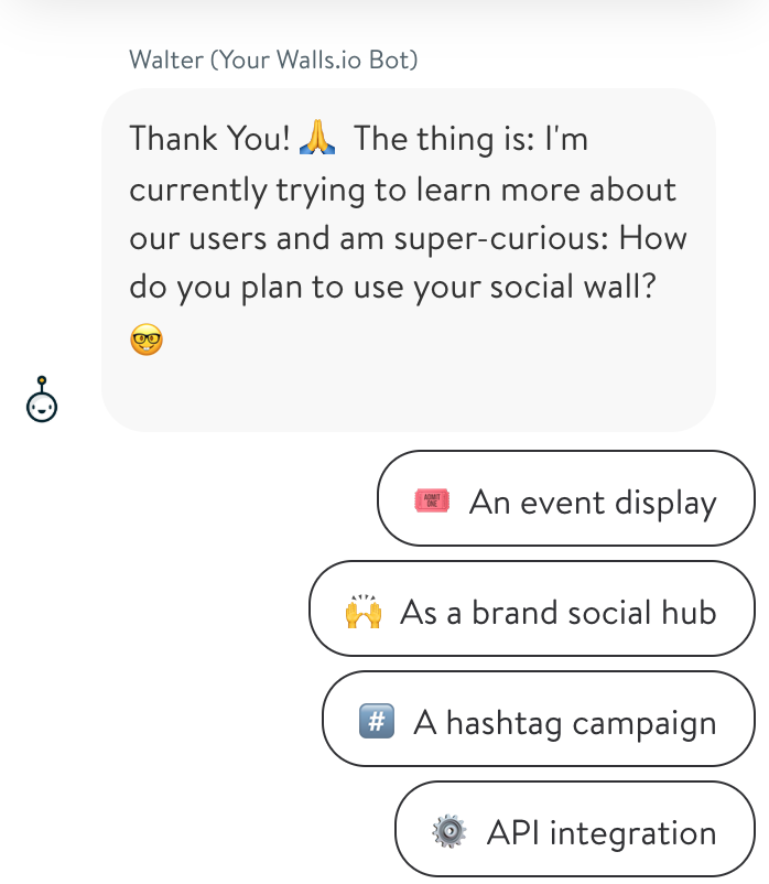landing page chatbot artificial intelligence