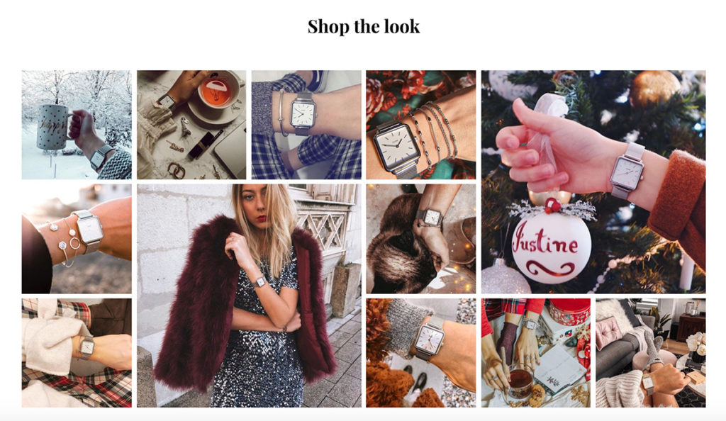 Landing page tips User-Generated Content instagram