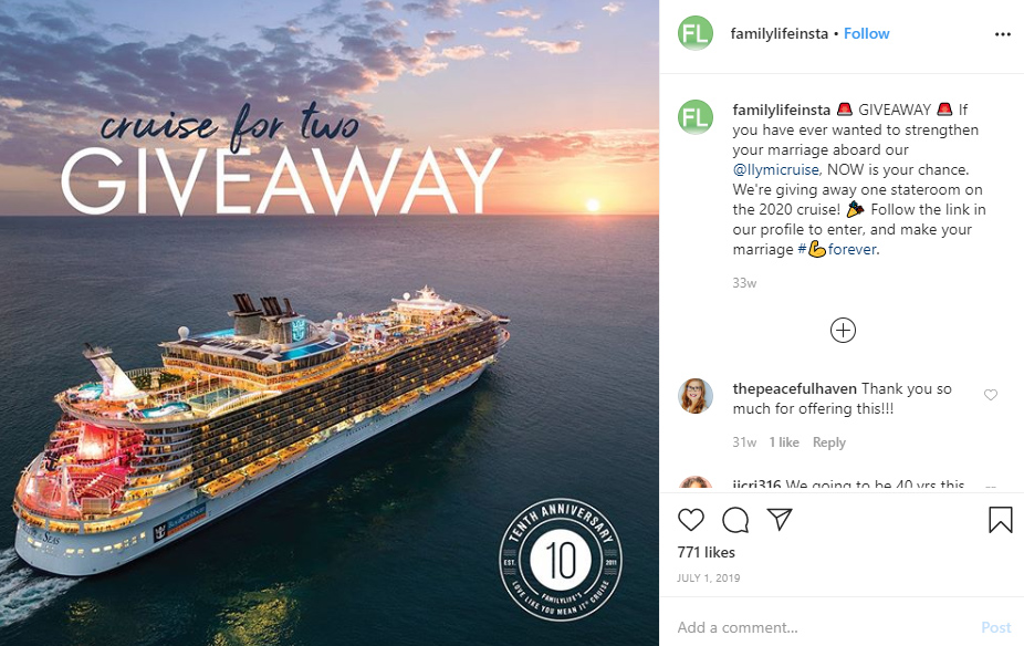 cruise giveaway prize