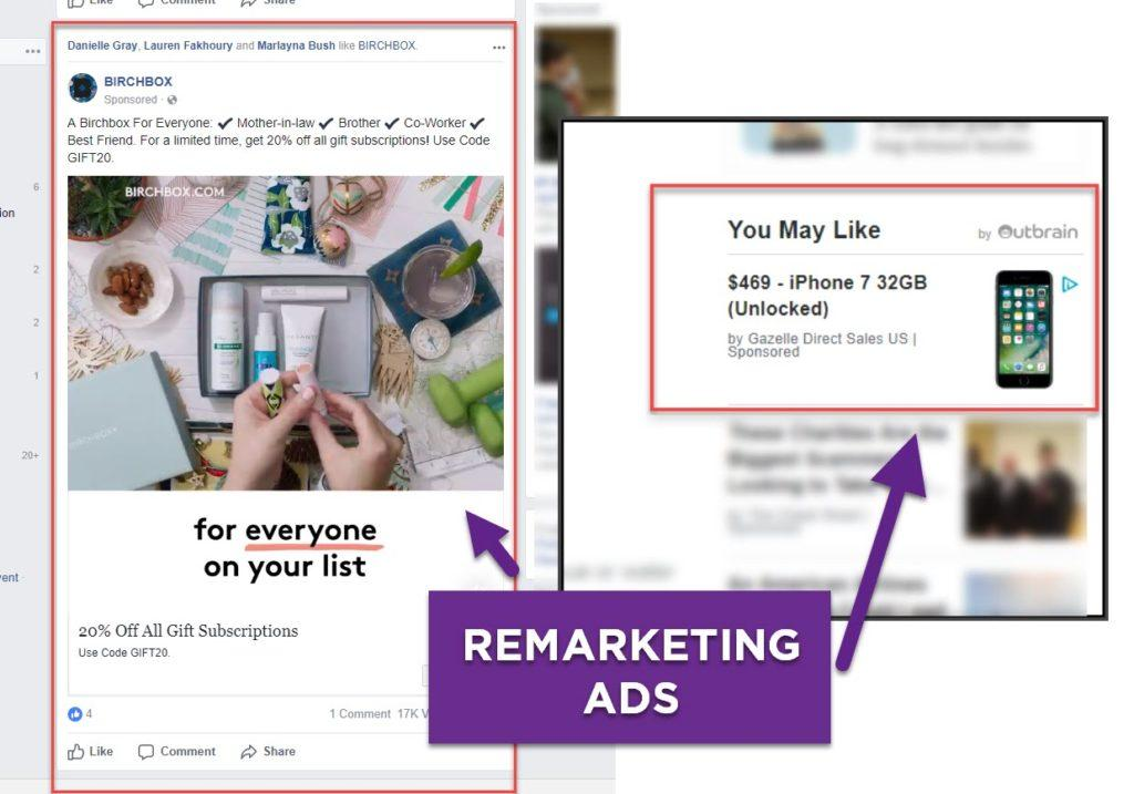 remarketing ads example