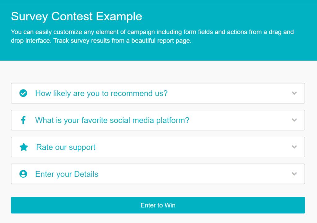 survey contest example