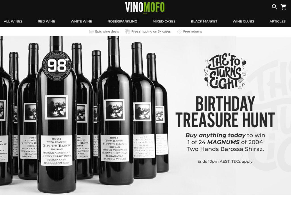 wine giveaway prize idea