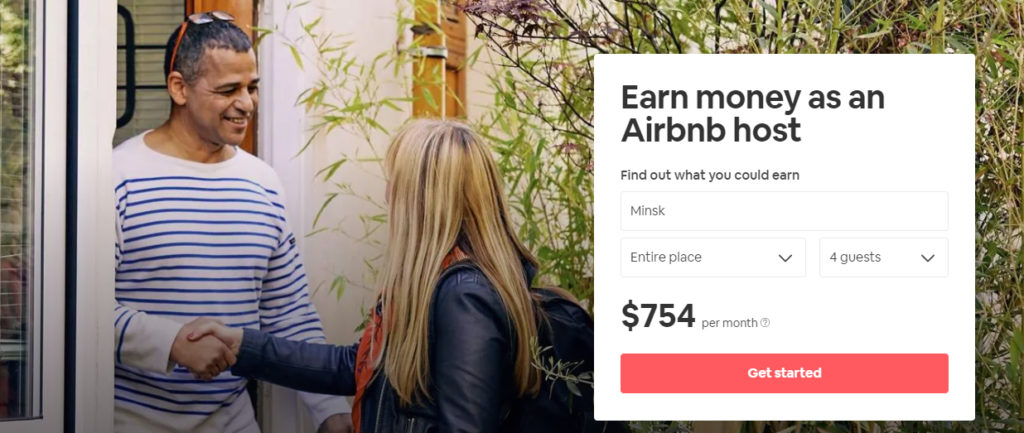 airbnb landing page personalization example