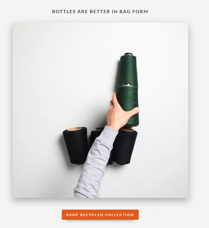 bellroy bottles landing page example