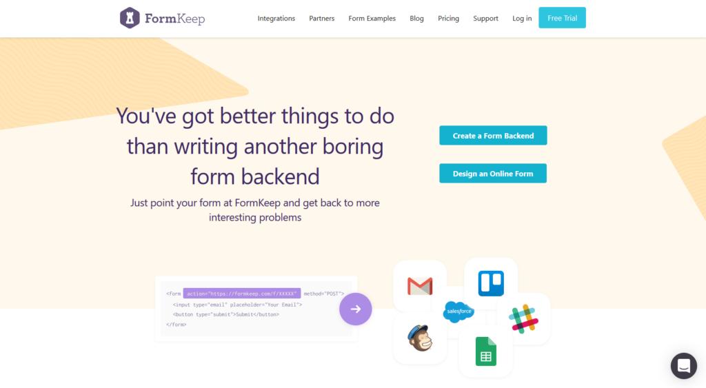 formkeep form builder app