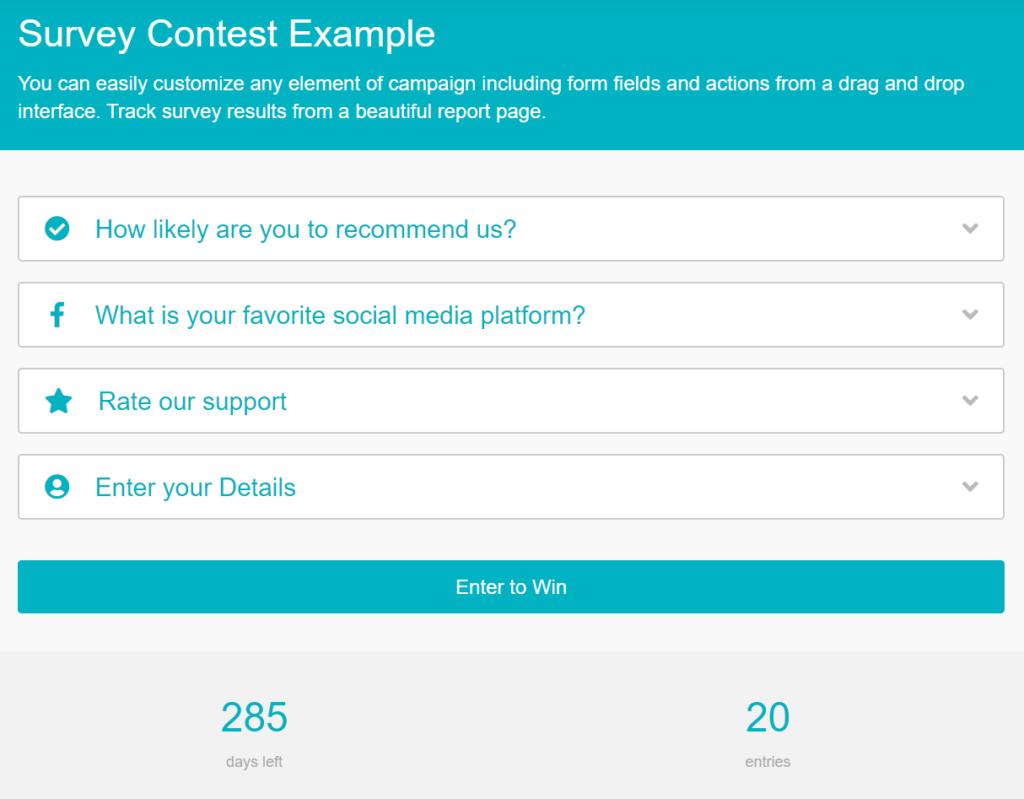 woorise survey contest