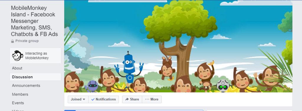 facebook group mobilemonkey