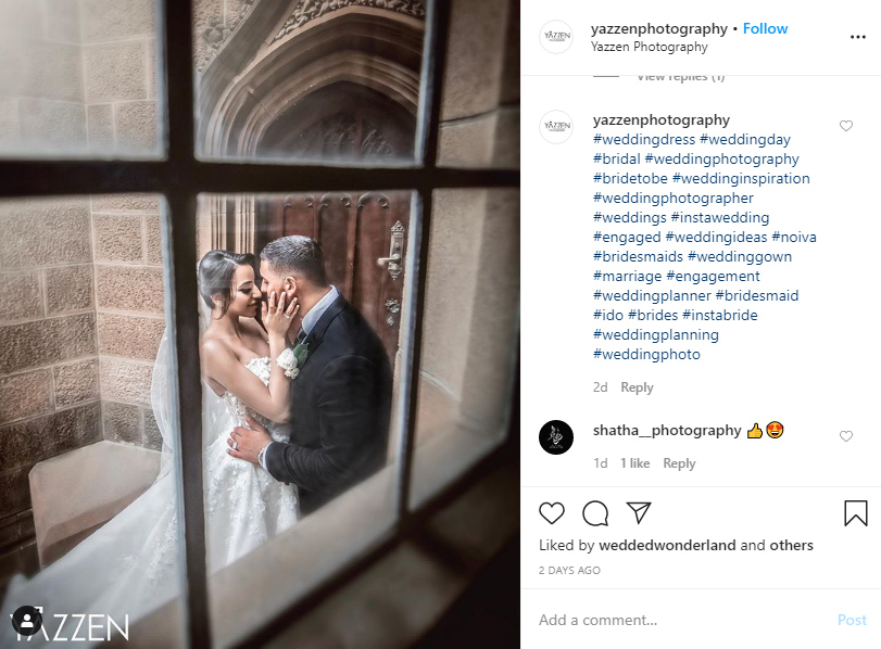 instagram hashtags for wedding ideas examples