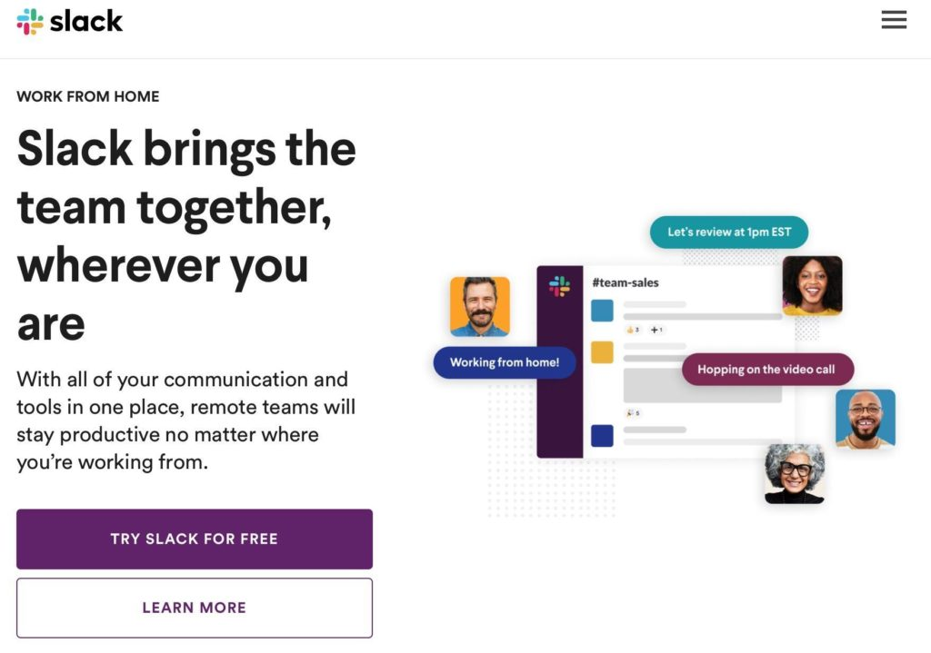 word of mouth slack example