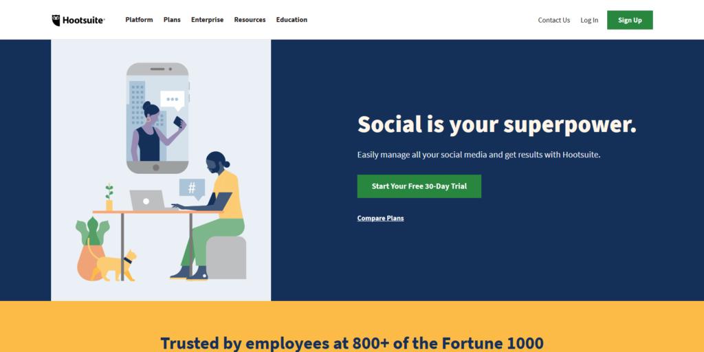 Hootsuite Social Media Marketing Automation tool