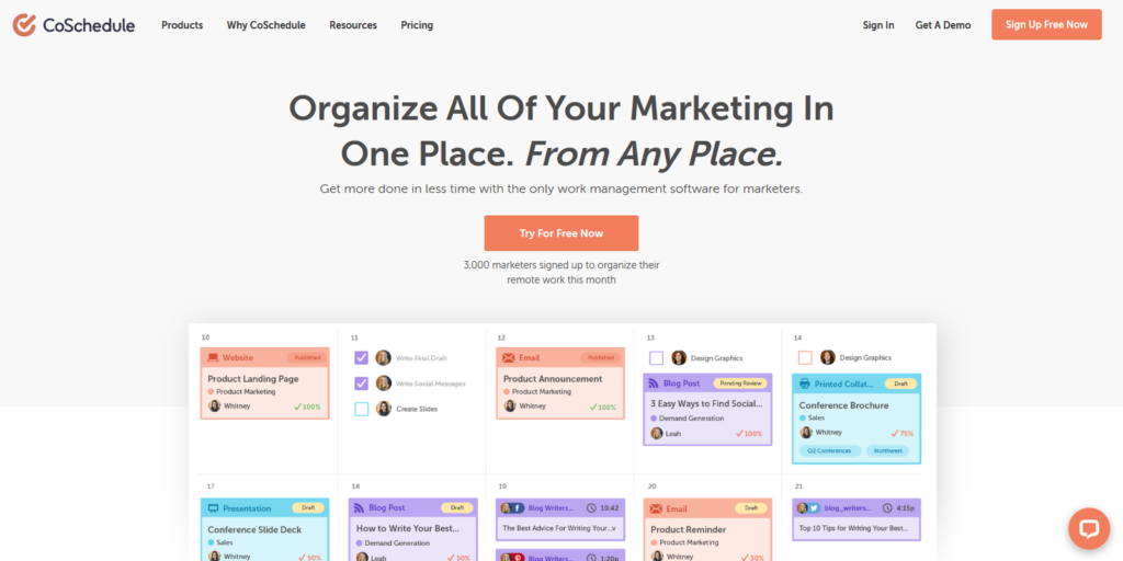 CoSchedule Social Media Marketing Automation tool
