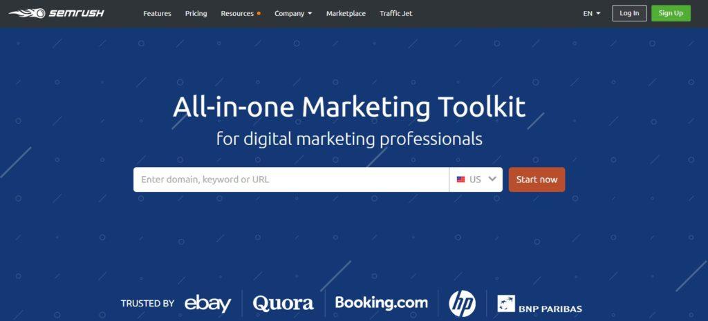 SEMRush Search Engine Marketing tool