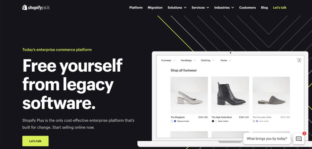 shopify minimal landing page example
