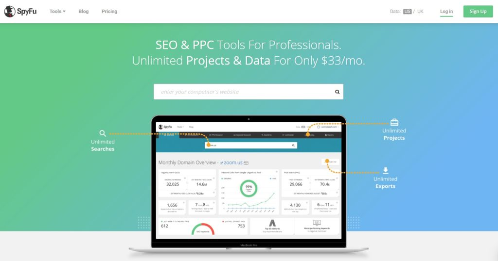 Spyfu automation & Search Engine Marketing tool