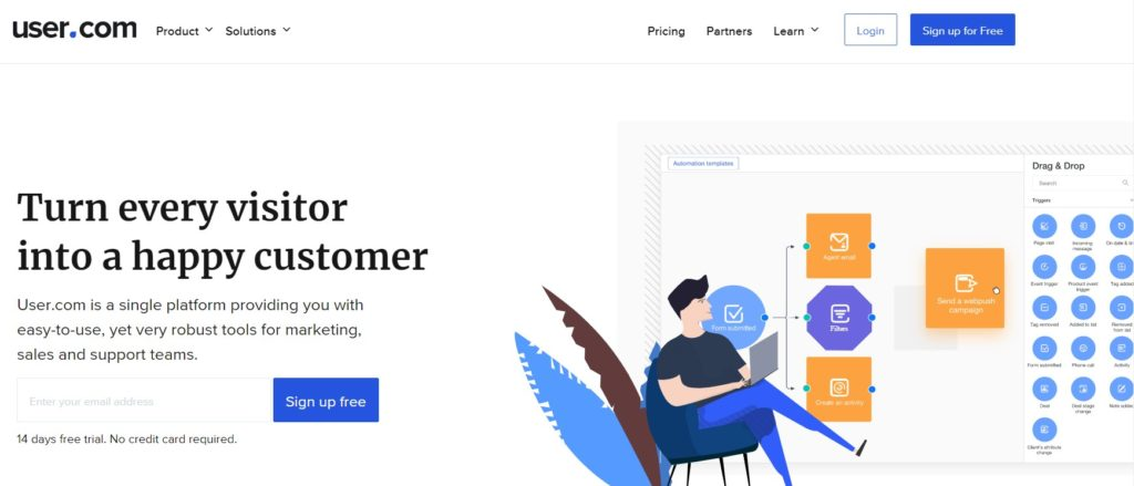 User.com automation & Customer Engagement Tool