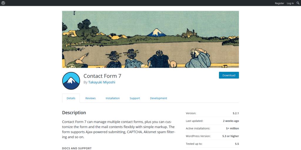 Contact Form 7 wordpress form builder
