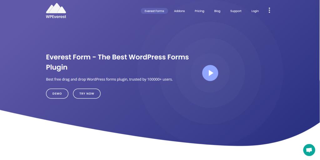 Everest Forms wordpress form builder
