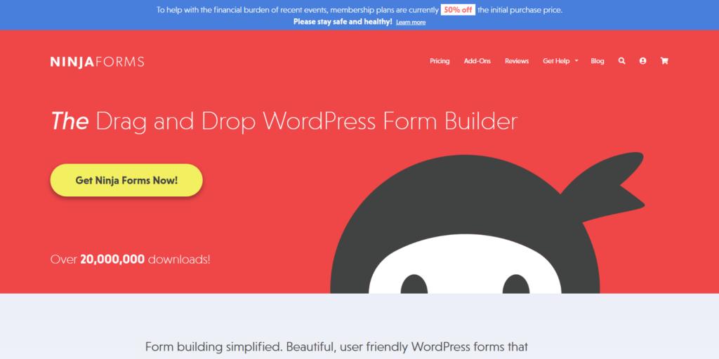 NinjaForms wordpress form builder