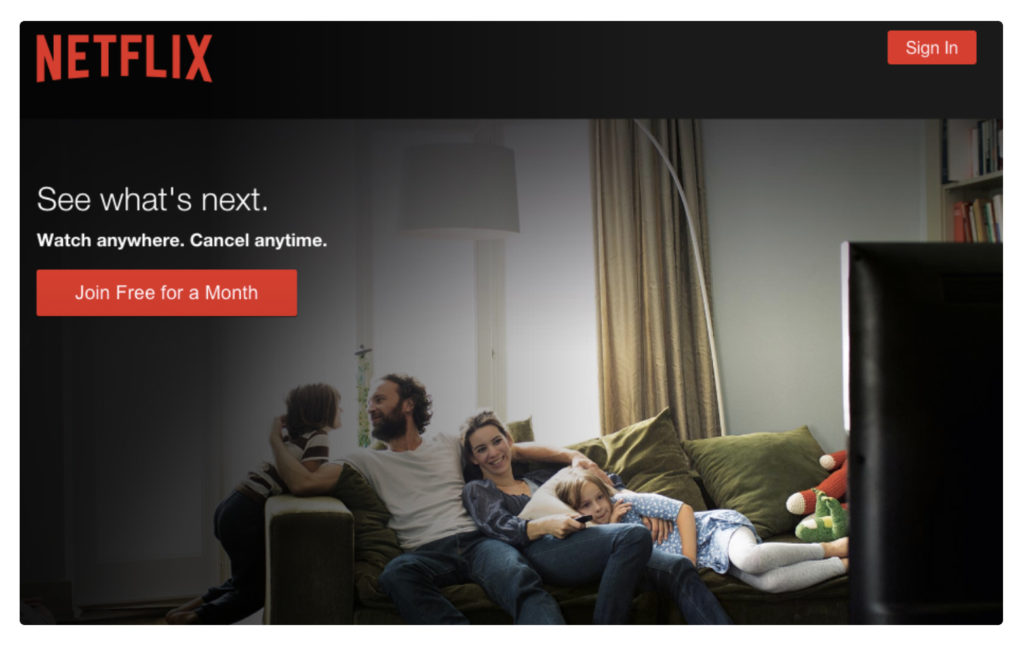 netflix call to action example