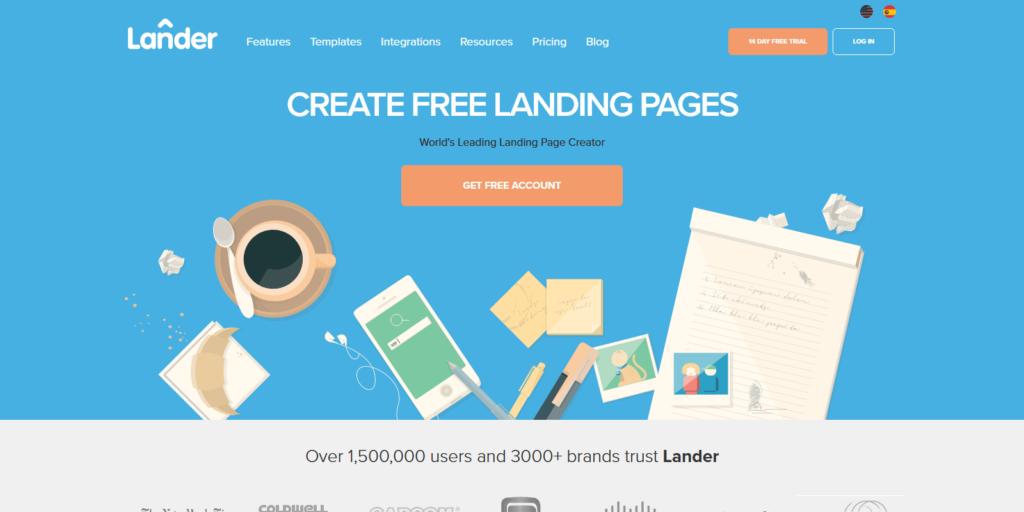 Lander landing page tool
