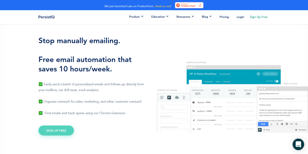 PersistIQ email outreach tool