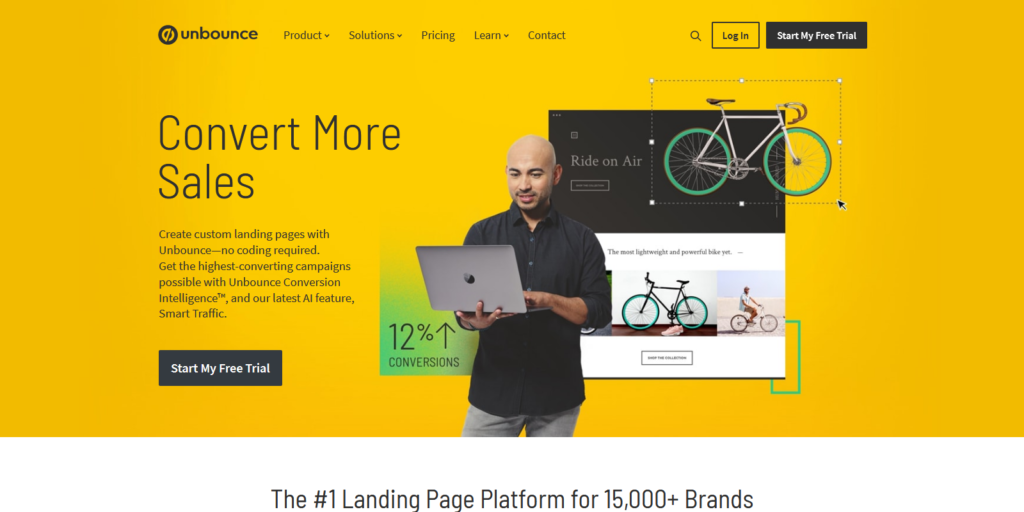 Unbounce landing page tool