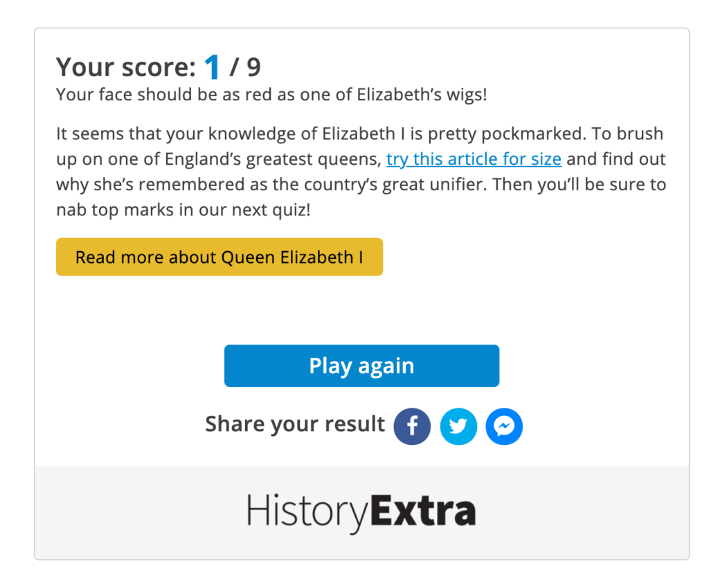 quiz score example