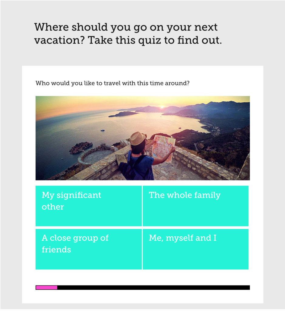 vacation quiz example