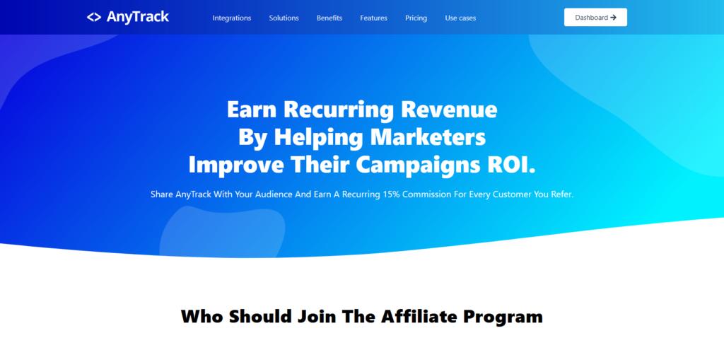 Anytrack affiliate program