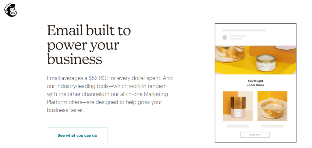 Craft Compelling Copy mailchimp landing page example