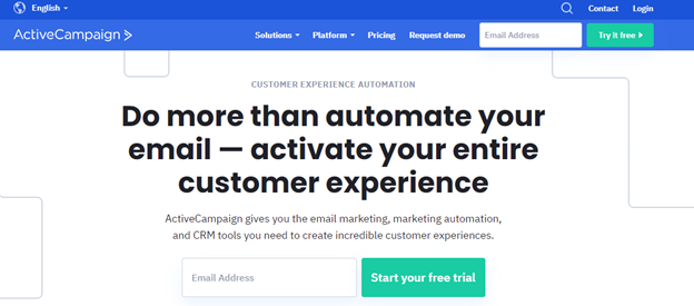 Don't Ask For Too Much activecampaign landing page