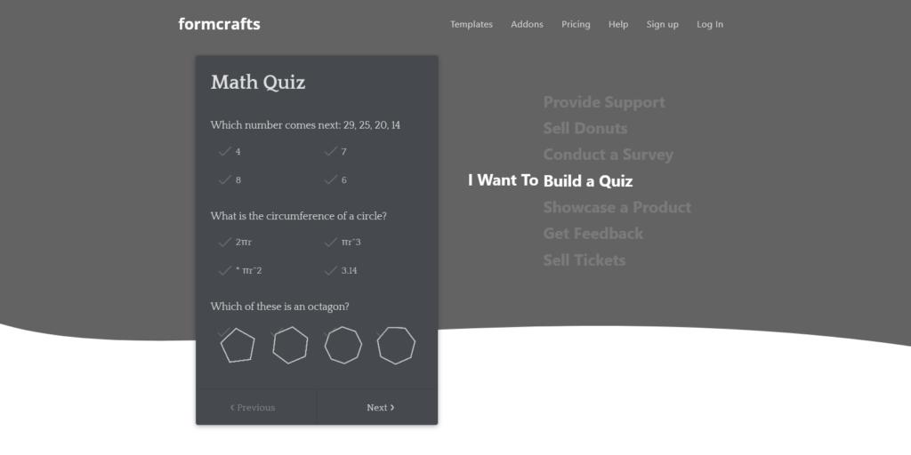 Formcraft quiz maker app