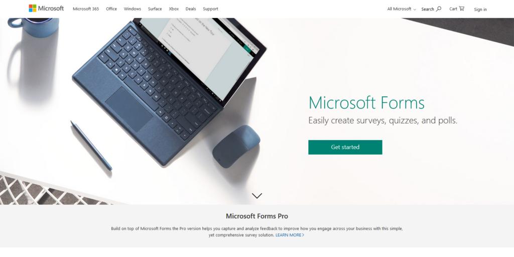 Microsoft Forms quiz maker
