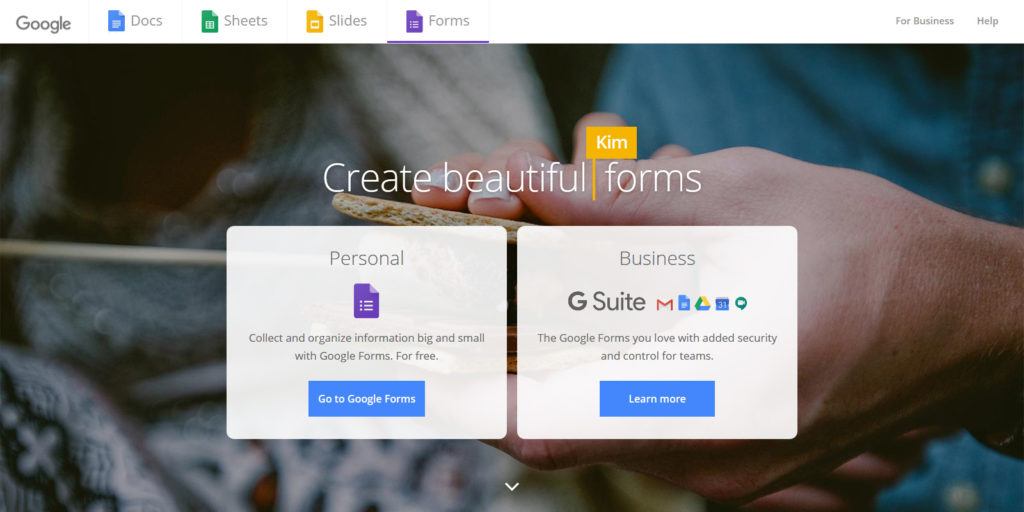 Google Forms quiz maker