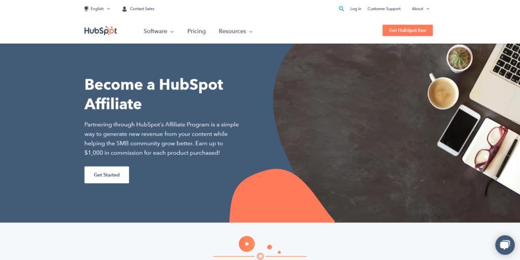 hubspot affiliate program