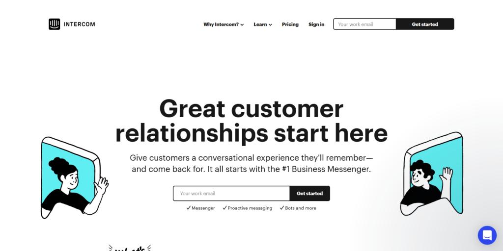 intercom lead generation platform
