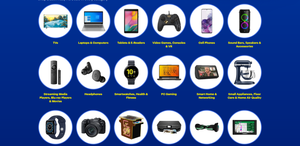 Best Buy's interactive menu