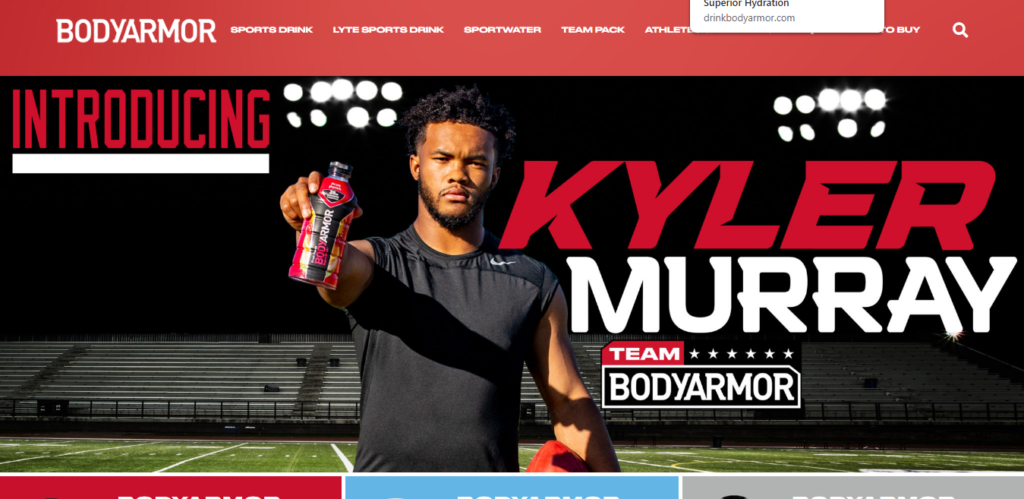 Body Armor Kyler Murray ad example