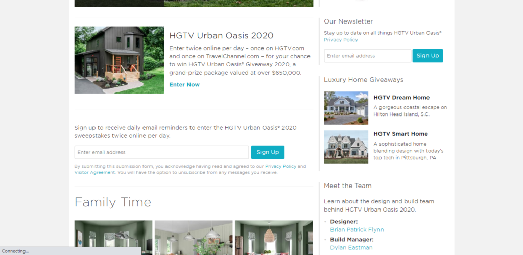 HGTV giveaway examaple
